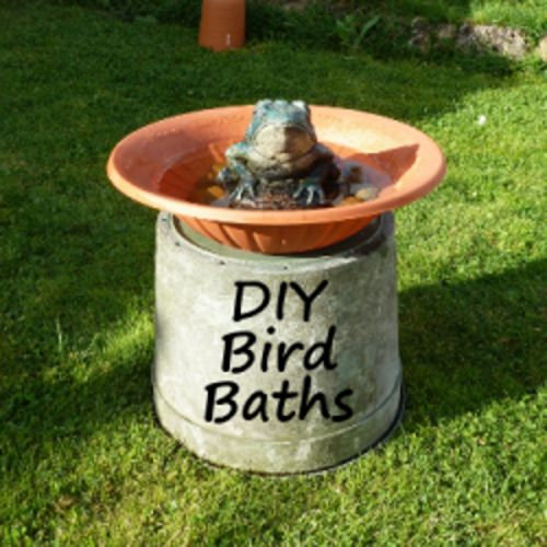 How To Make A Simple Bird Bath With Found Items Diy Bird Bath Bird Bath Bird Bath Garden