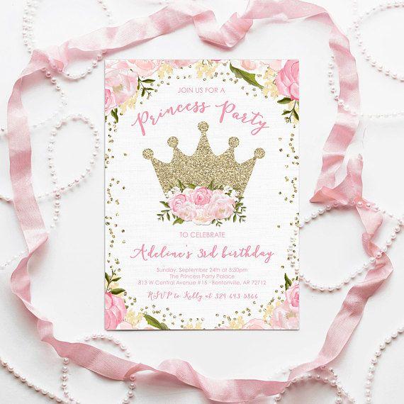 Princess Invitation Princess Birthday Princess Baby Shower