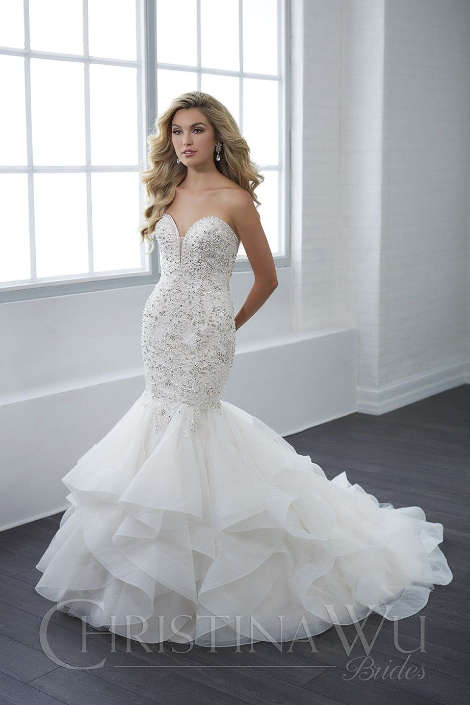 0dc8365a Christina Wu 15662 Trumpet-Style Wedding Dress in 2019 | Wedding ...