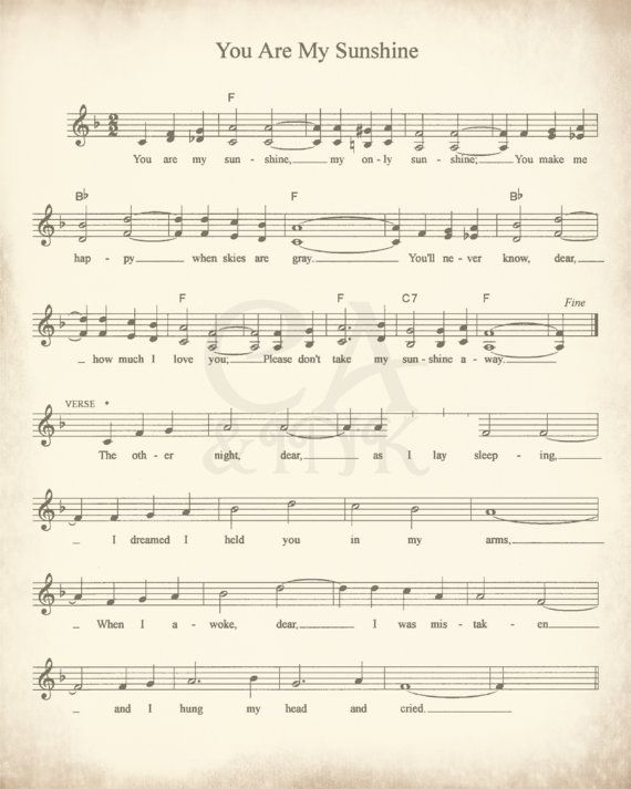 Sheet Music Art Lullaby Sheet Music Sheet Music Prints Sheet