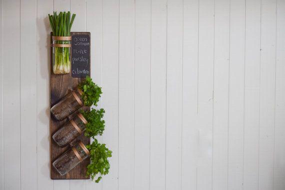 Vertical Garden, Indoor Planters, Indoor Herb Garden, Hanging Planter, Hanging Herb Garden ; Dark Walnut and Rose Gold