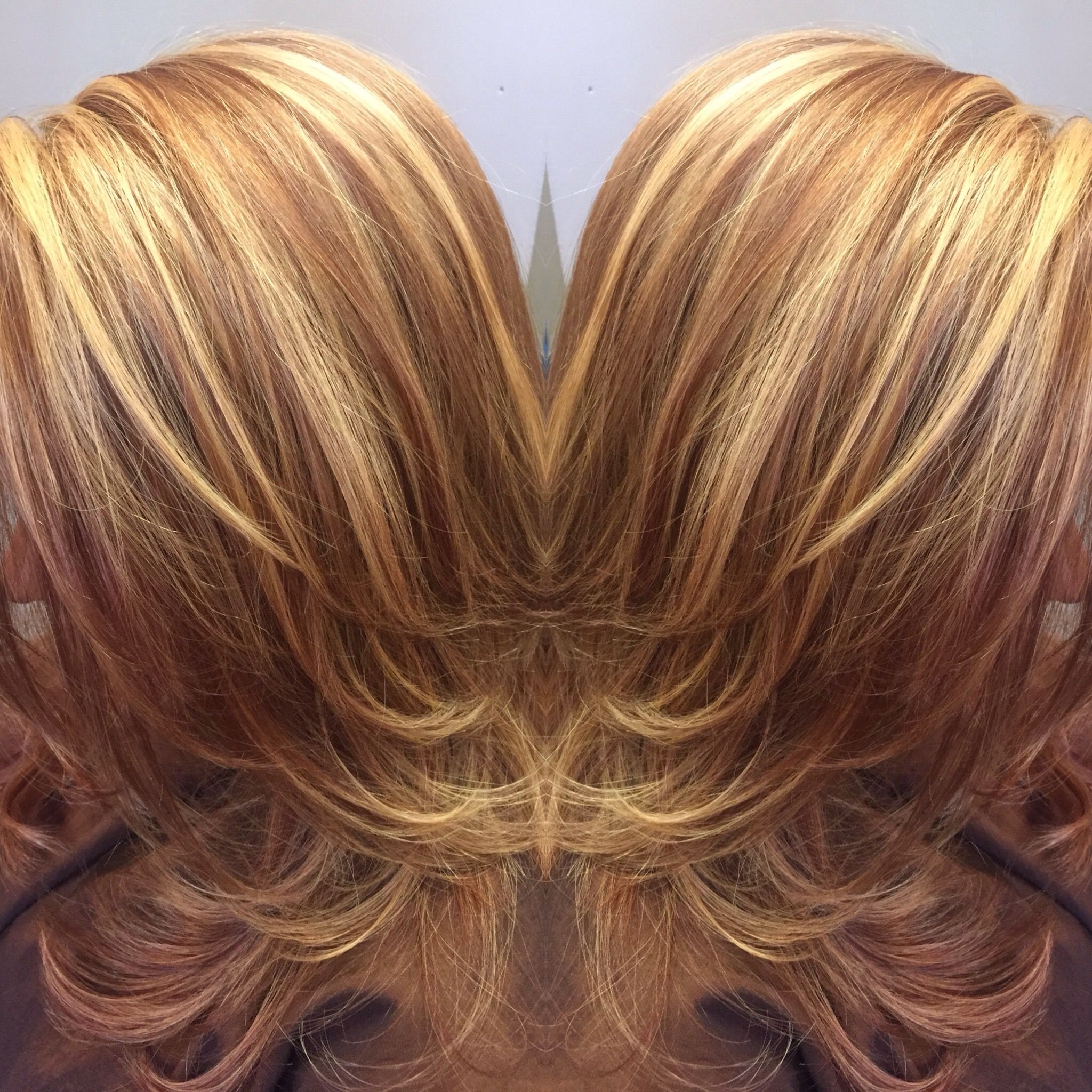 perfect warm brown lowlights and golden blonde highlights Highlight