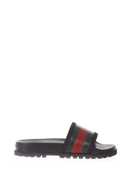 f9d418eda6b09 GUCCI GUCCI WEB SLIDE SANDAL.  gucci  shoes