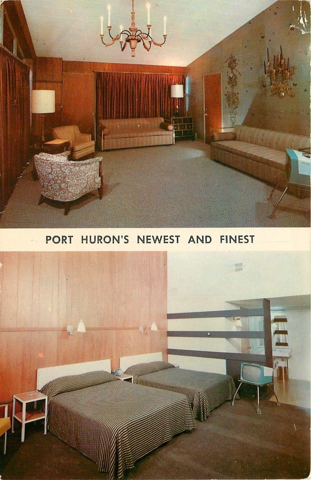 Motel Room Interiors: Port Huron Michigan Howard Johnsons Motor Lodge Room