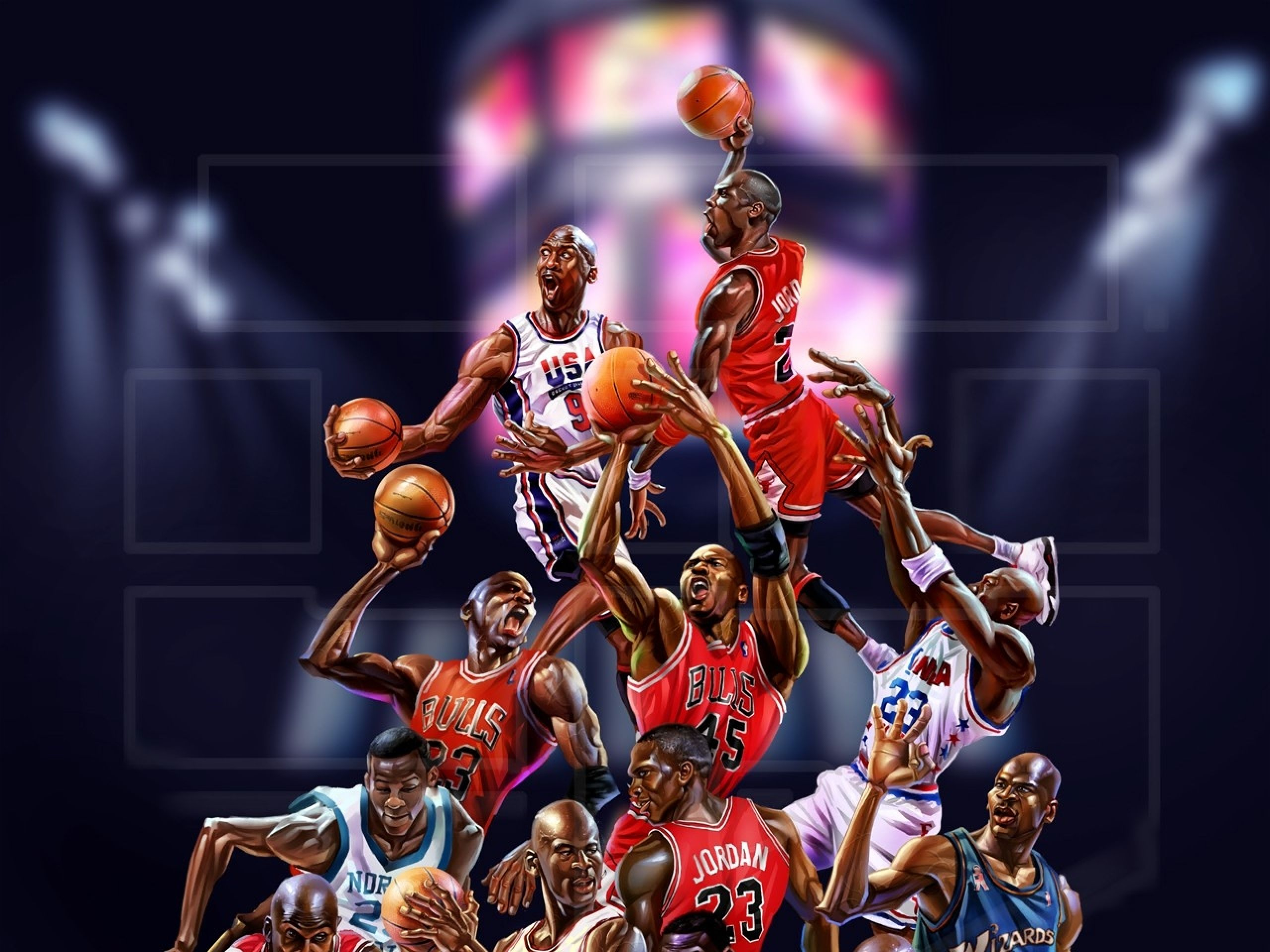 NBA Michael Jordan Everything NBA Group Board