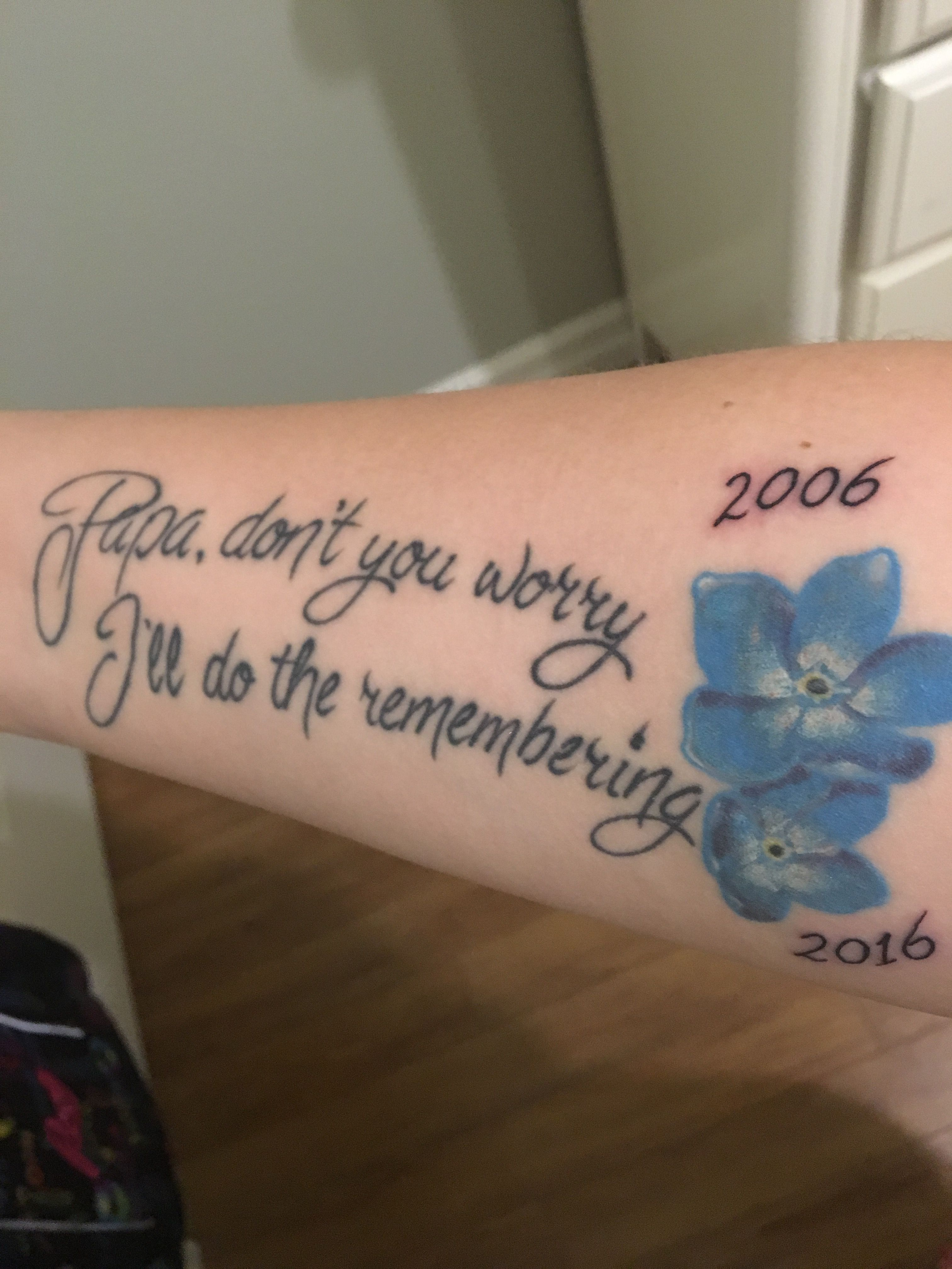 Touched up my memorial tattoo for my two amazing grandfathers who battled Alzheimer's disease  #AlzheimersTattoo #Memorial #ForgetMeNot #PapasGirl #grandfathertattoo Touched up my memorial tattoo for my two amazing grandfathers who battled Alzheimer's disease  #AlzheimersTattoo #Memorial #ForgetMeNot #PapasGirl #grandfathertattoo Touched up my memorial tattoo for my two amazing grandfathers who battled Alzheimer's disease  #AlzheimersTattoo #Memorial #ForgetMeNot #PapasGirl #grandfathertattoo To #grandfathertattoo