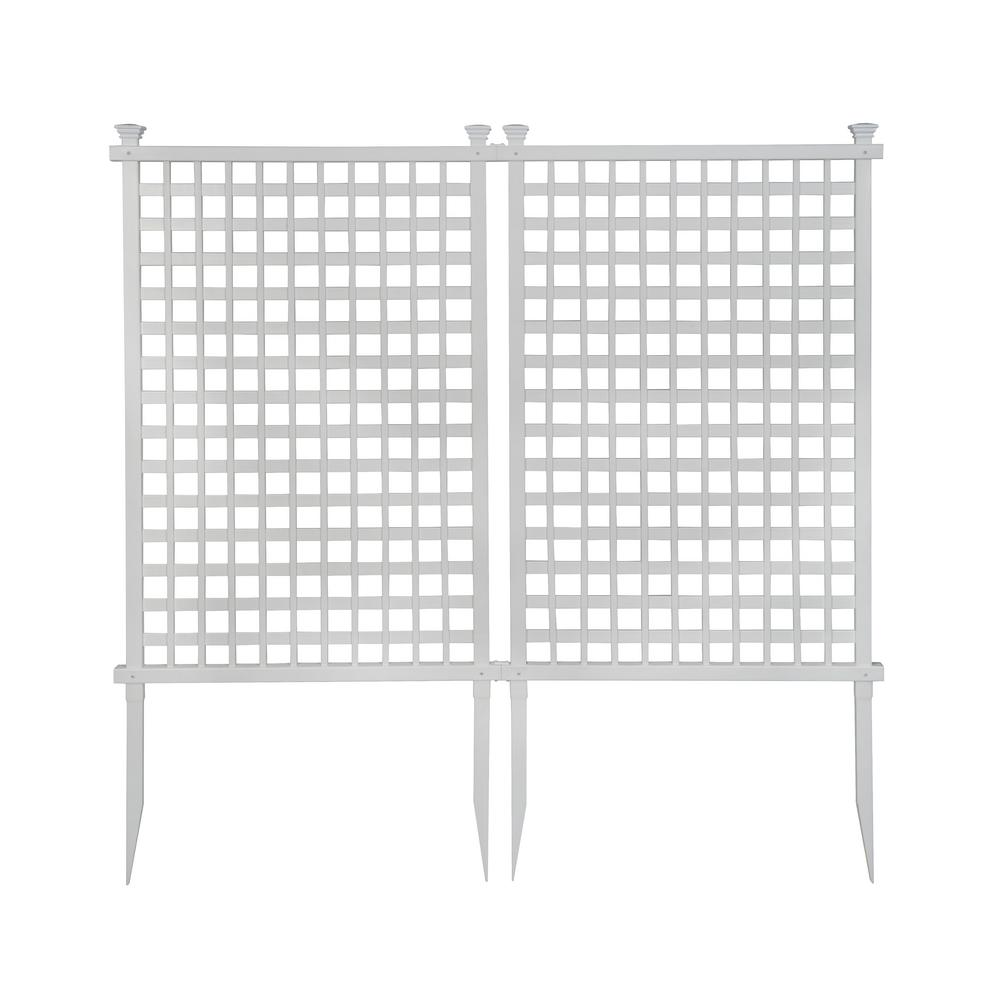 Zippity Outdoor Products 4.8 ft. H x 3 ft. W White Vinyl