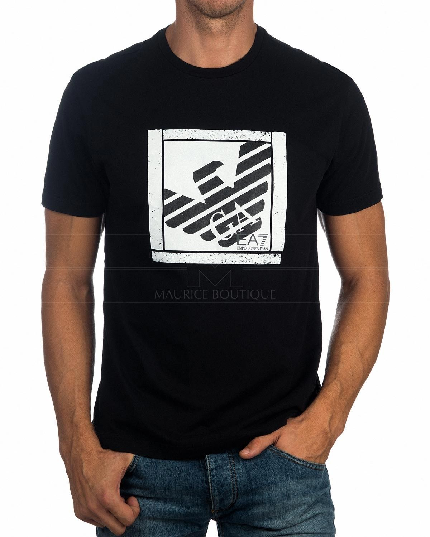 EA7 Emporio Armani Camiseta print - night blue CnJC1GVJoM