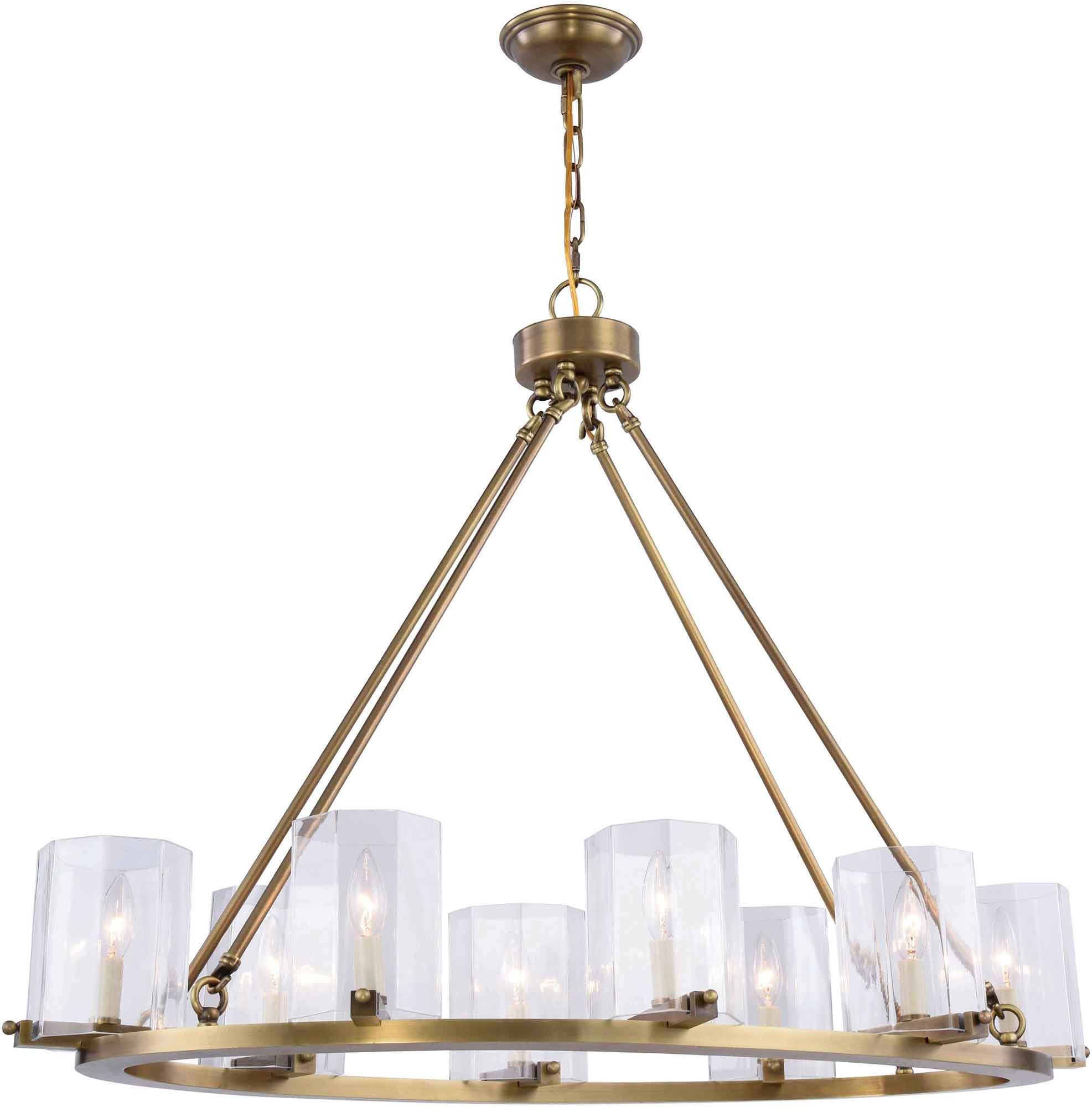 Monterey 8 light chandelier burnished brass finish products monterey 8 light chandelier burnished brass finish arubaitofo Choice Image