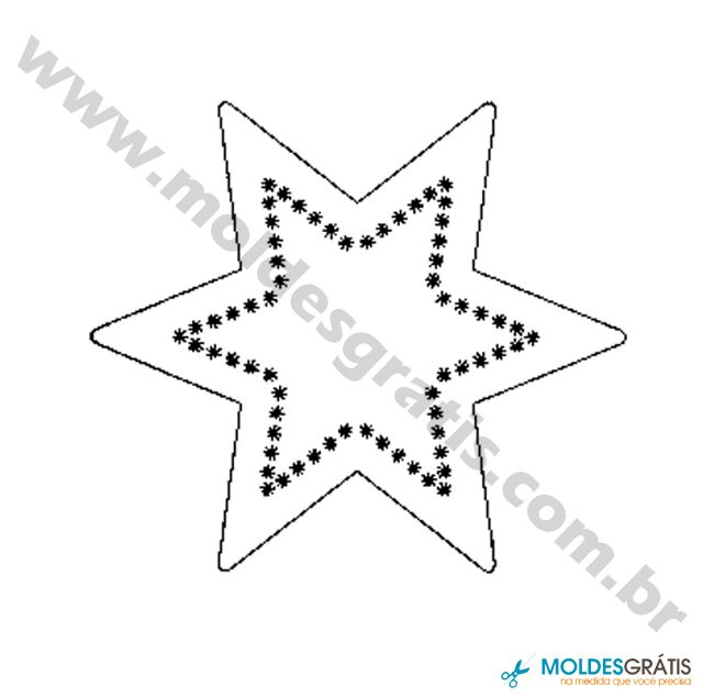 Moldes De Estrelas Com Imagens Molde Estrela Molde Patchwork