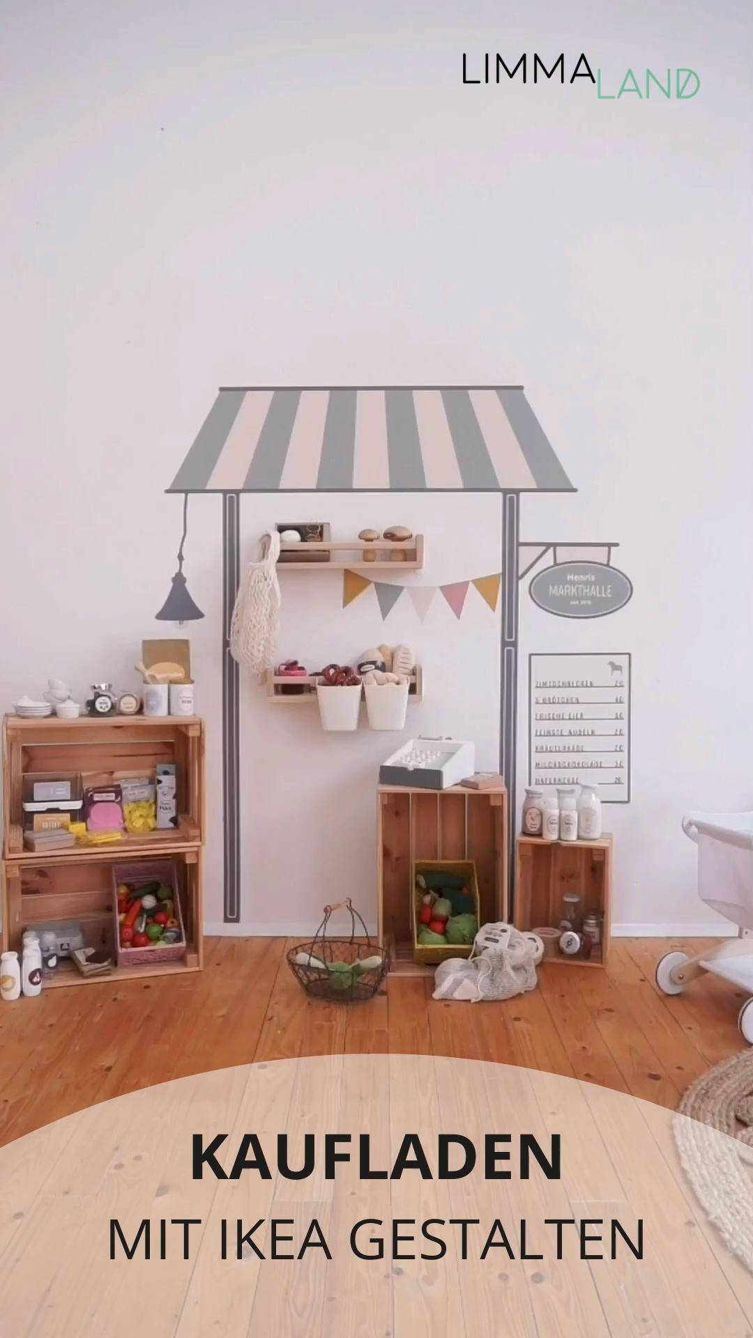 Unser praktischer DIY Kaufladen mit IKEA Zubehör und unserem Folienset ist platzsparend 💛 enorm flexibel 💛 und personalisierbar mit Kindernamen. Wähle jetzt aus unseren traumhaften Trendfarben deine LILLE BUD aus!