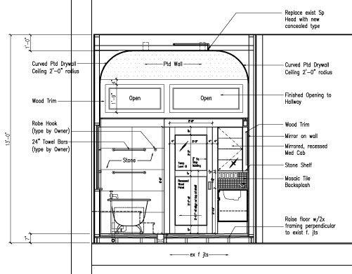 Pocket Door Elevation Google Search Bathroom Drawing
