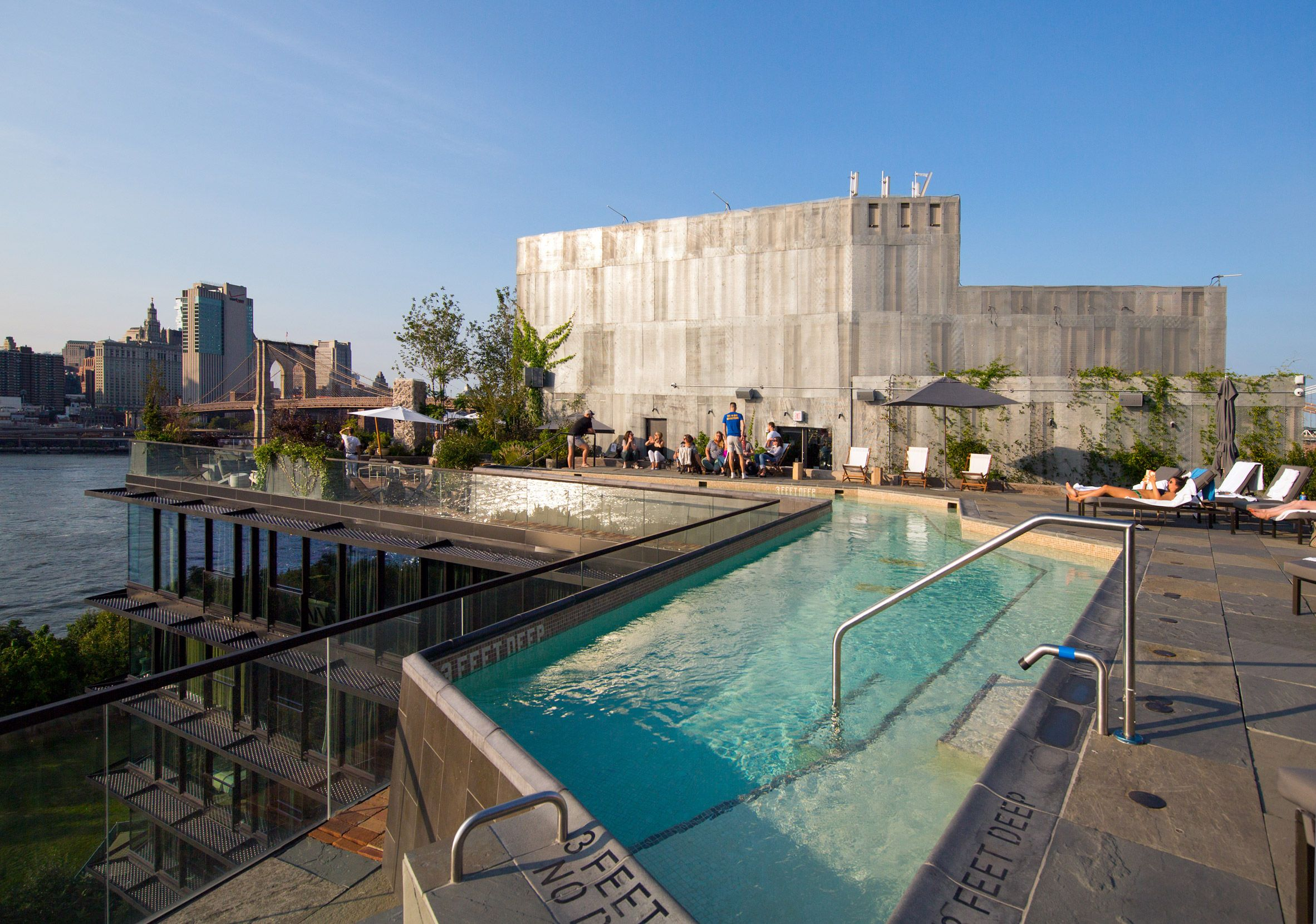 The 1 Hotel Brooklyn Bridge Designed By Marvel Architects Has Been Nominated In Seven Categories At The Ahead Ameri Pier House Architect Brooklyn Bridge Park