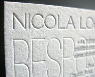 Letterpress Business Card for Interior Designer by Saulius Dumbliauskas (via Creattica)