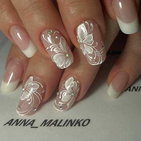Fiori Nail Art.Manicure Sposa Le 7 Tendenze Del 2018 Nel 2020 Unghie