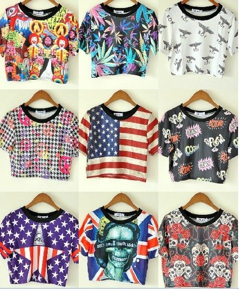 Tops for Women 2013 Sexy Cheap Crop Tops Harajuku Style Tops ...