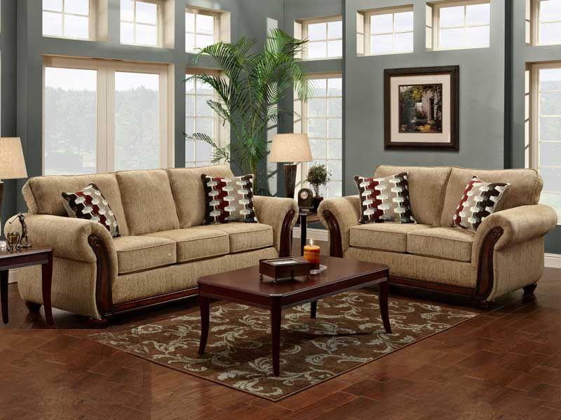 2 Pc Radar Havana Sofa Love Set Living Rooms Living Room Sets