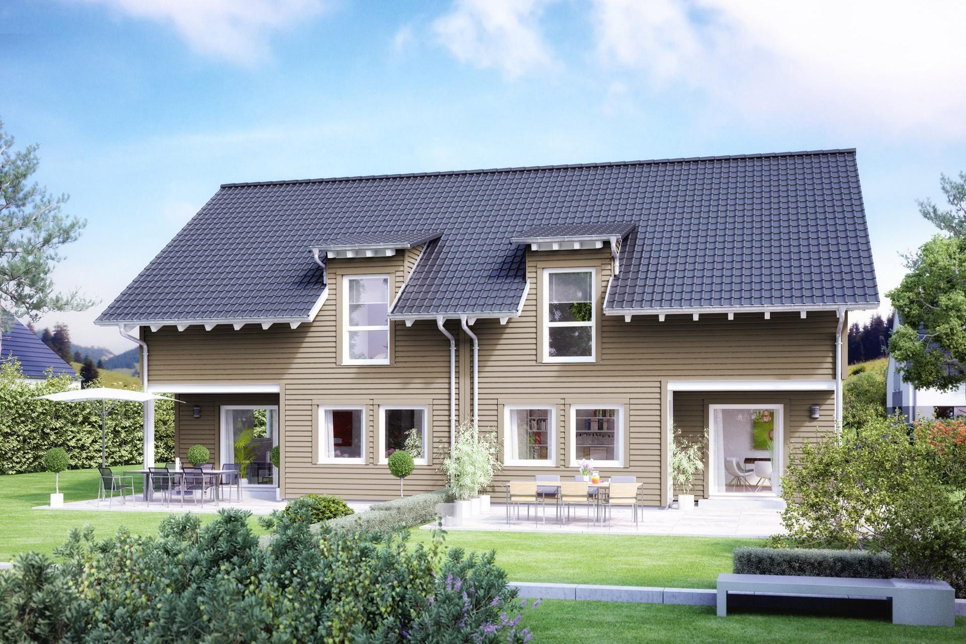 Doppelhaus Mit Überdachtem Freisitz | Fertig Haus | Pinterest
