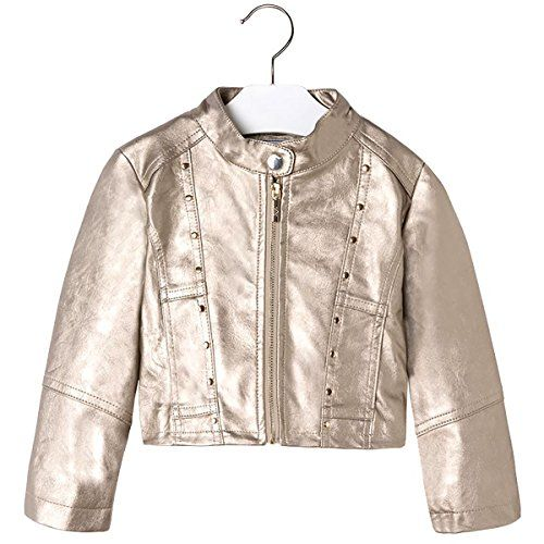 08d355ff6 Mayoral Girl's Gold Pleather Jacket, Sizes 2-9   Teen Girls' Coats ...