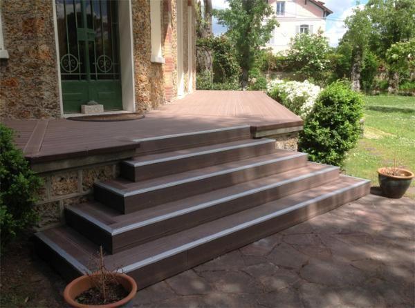 Lame terrasse en bois composite MDSA-France Marron chocolat - terrasse pave et bois