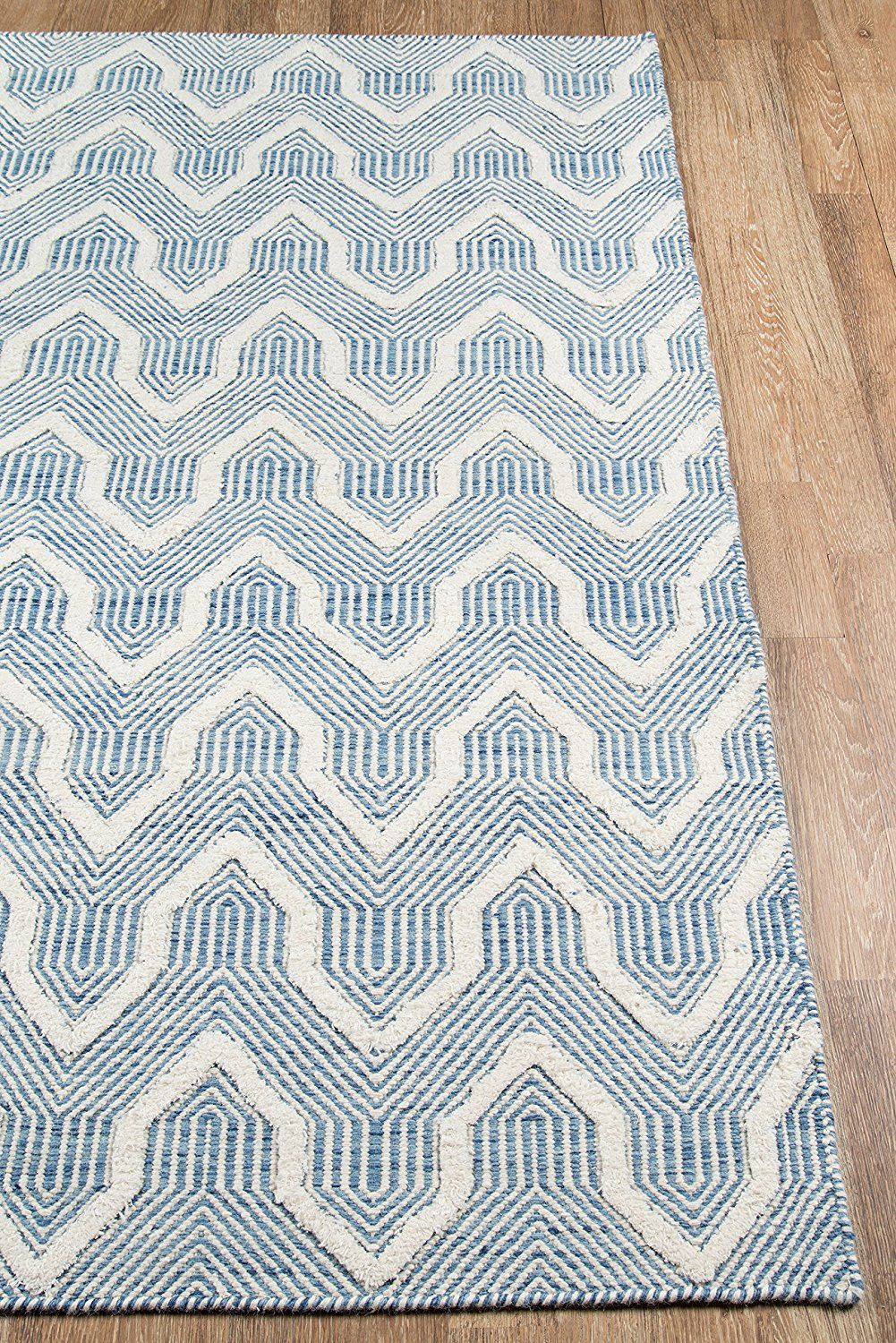 Amazon Com Erin Gates Langdon Collection Prince Hand Woven Wool Area Rug 7 6 X 9 6 Blue Kitchen Dining Wool Area Rugs Area Rug Decor Area Rugs