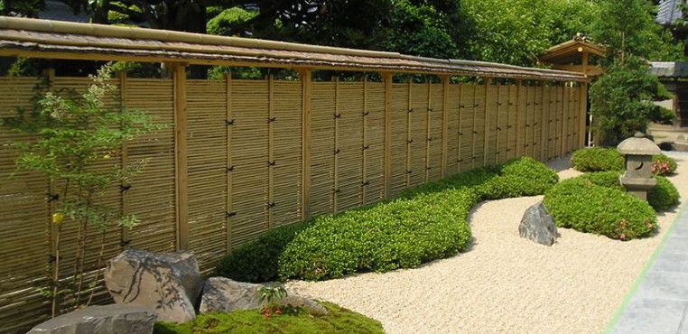 Course About Japanese Garden Creating In English   Traditional Bamboo Fences    Www.japanese