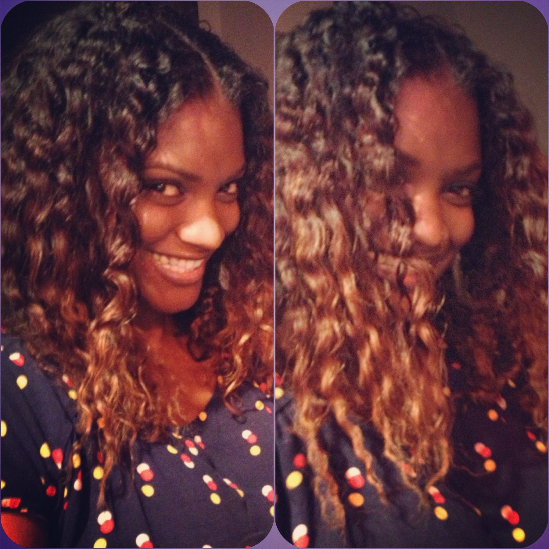 My natural hair with a twist out. Ombré color African American ...