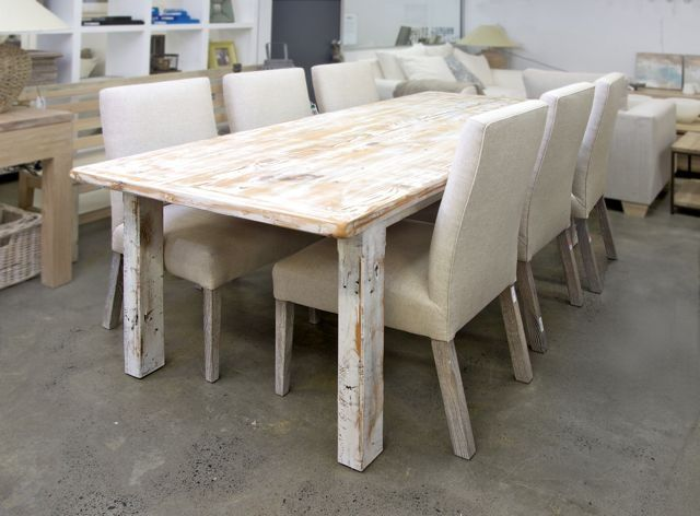 White Wash Dining Table Recycled Oregon Table White Wash Tables