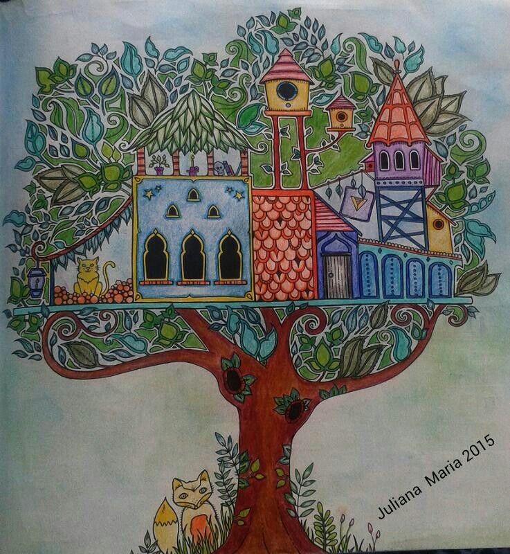 Árvore Secret garden coloring book, Johanna basford
