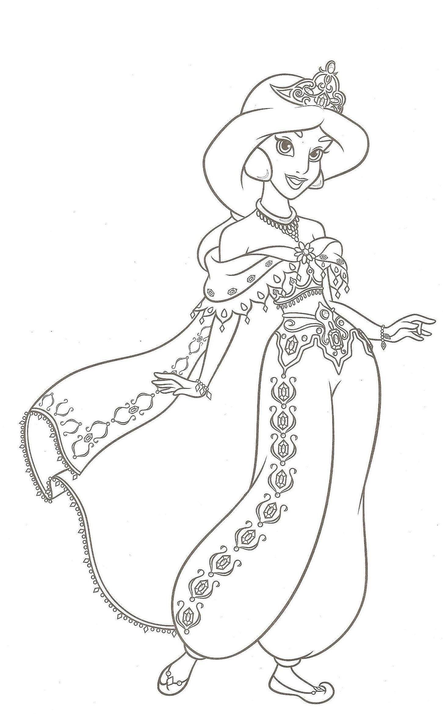 new 15 Coloriage Princesse Jasmine  Coloriage jasmine, Coloriage