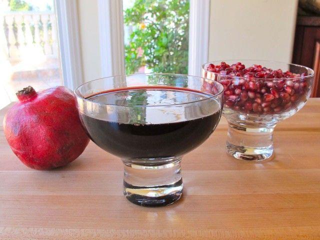 Pomegranate Molasses 1  shiksa in the Kitchen!!  homemade Pom Molasses!!