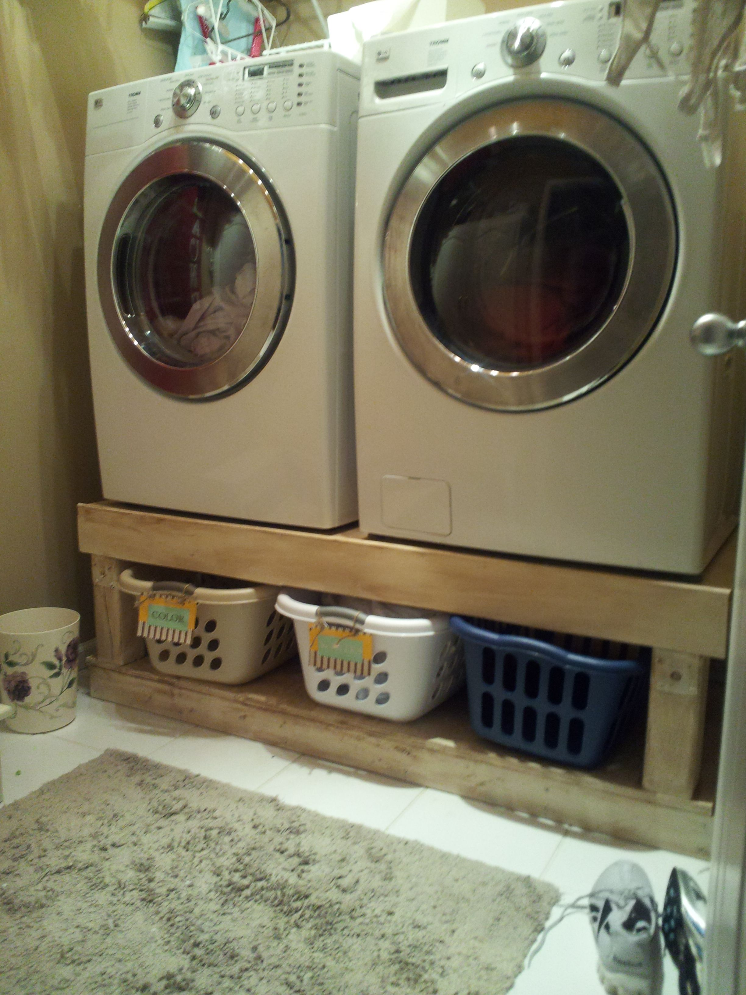 diy pedestal of awesome from laundry and washer dryer com