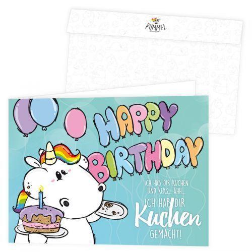 Grusskarte Pummeleinhorn Happy Birthday Eur 2 95 Einhorn