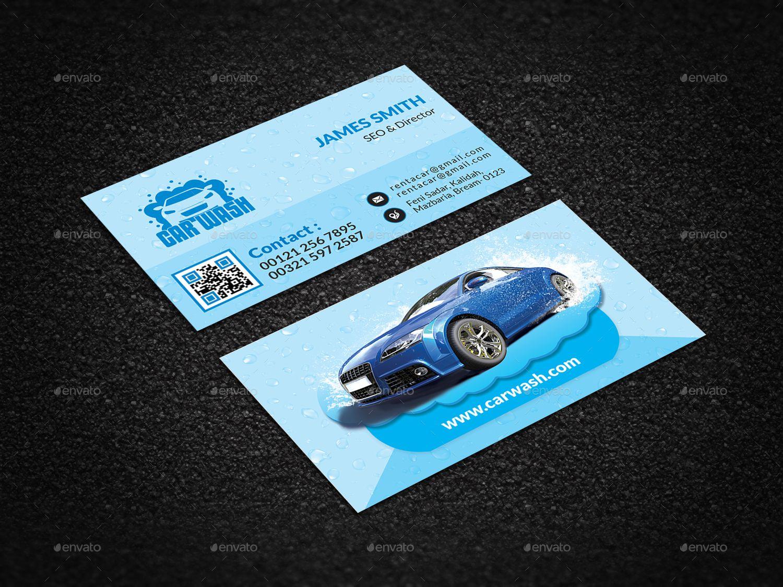 Car Wash Business Card Wash Car Card Business Graphicriver