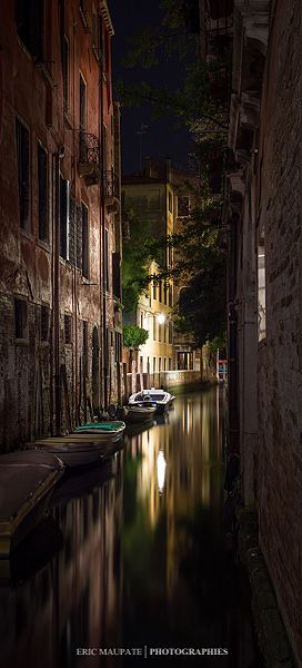Venice at night, Italy Veneto