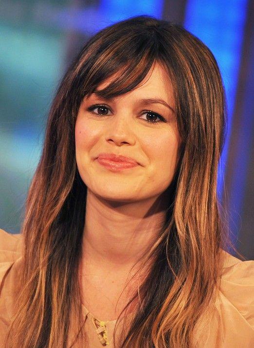 Sweet Long Straight Hairstyle With Wispy Bangs Hairstyles Weekly Rachel Bilson Hair Long Hair With Bangs Long Layered Hair