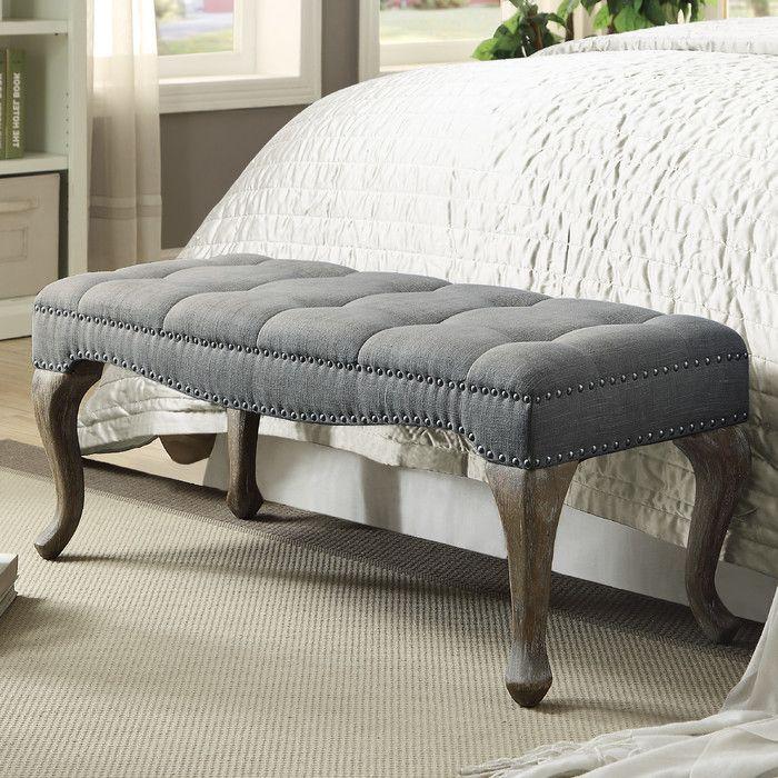 Linon U0026 Linon Rug Event Loire Upholstered Bedroom Bench U0026 Reviews | Wayfair