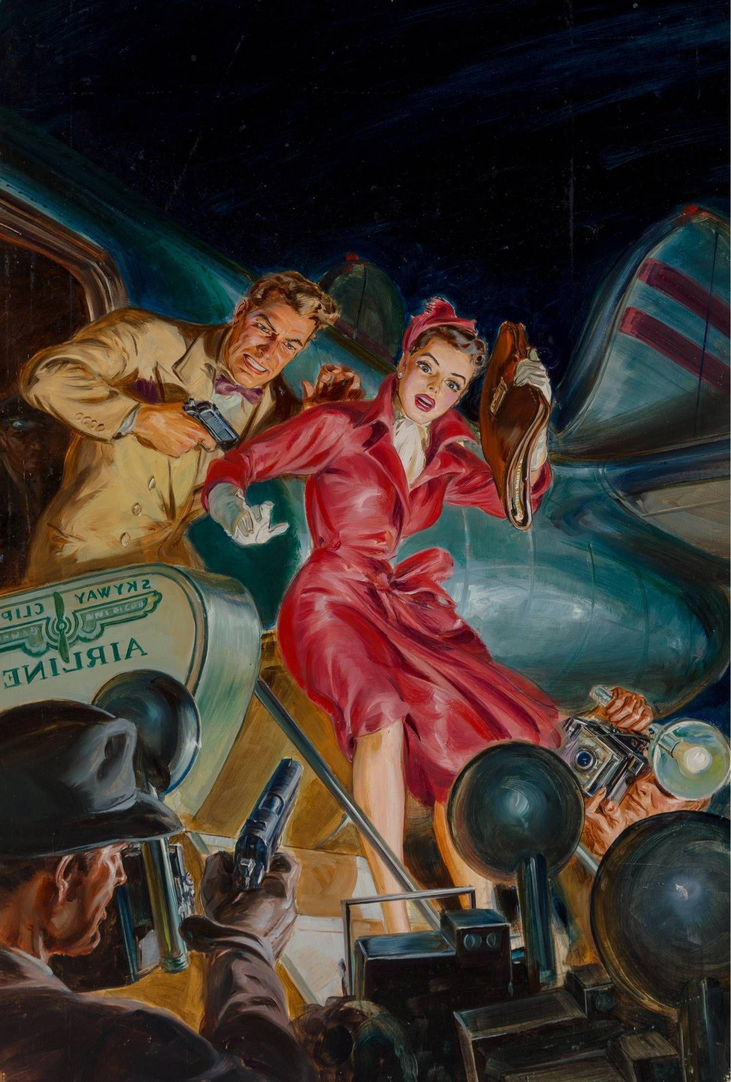 Dime Detective Magazine June 1951 Cover art