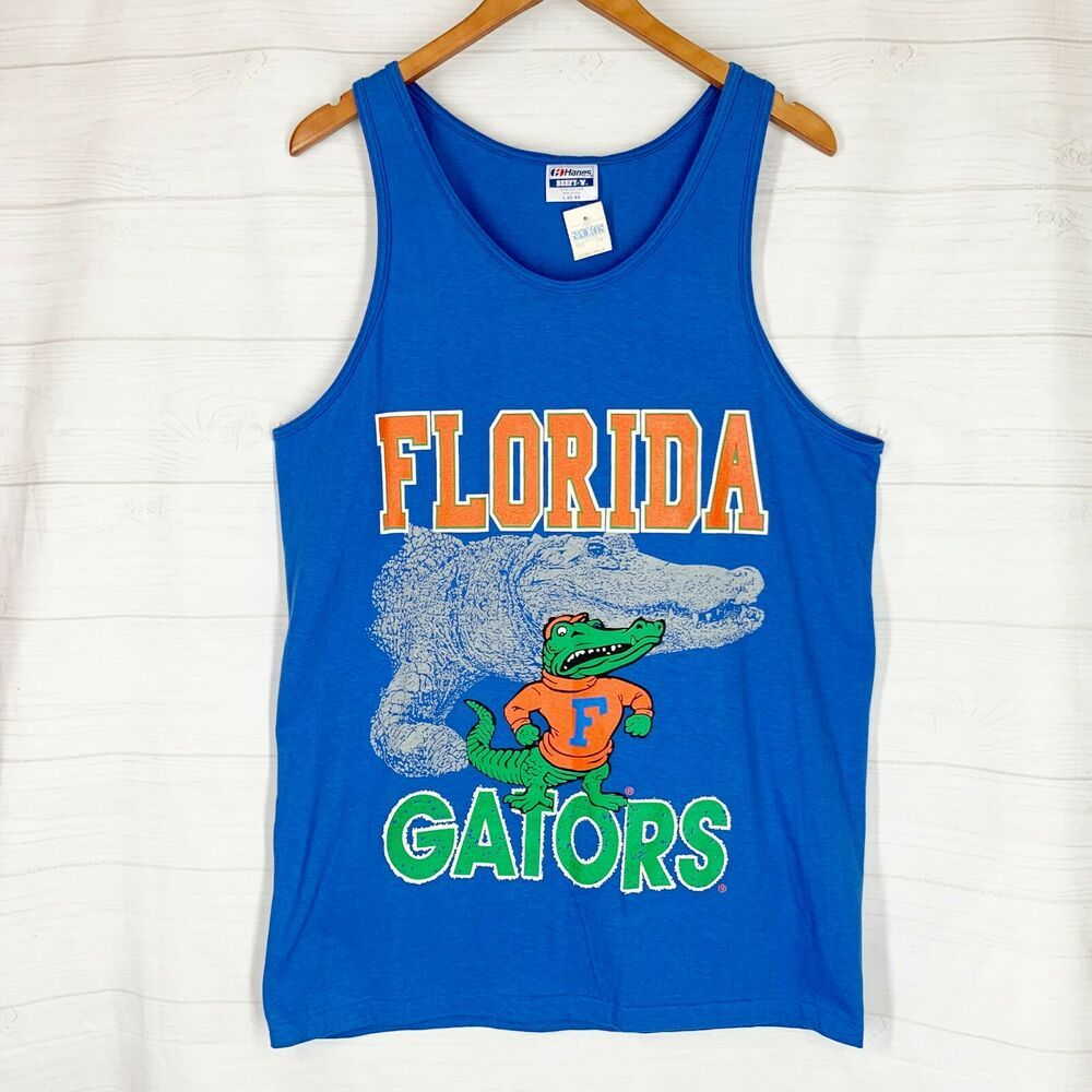 951b4fd06 University of Florida Gators Tank Top Mens L Muscle Shirt Blue Orange NEW  NWT #Hanes #FloridaGators
