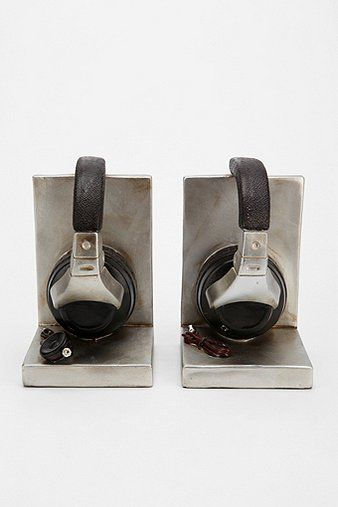 Headphone Bookend - Set Of 2