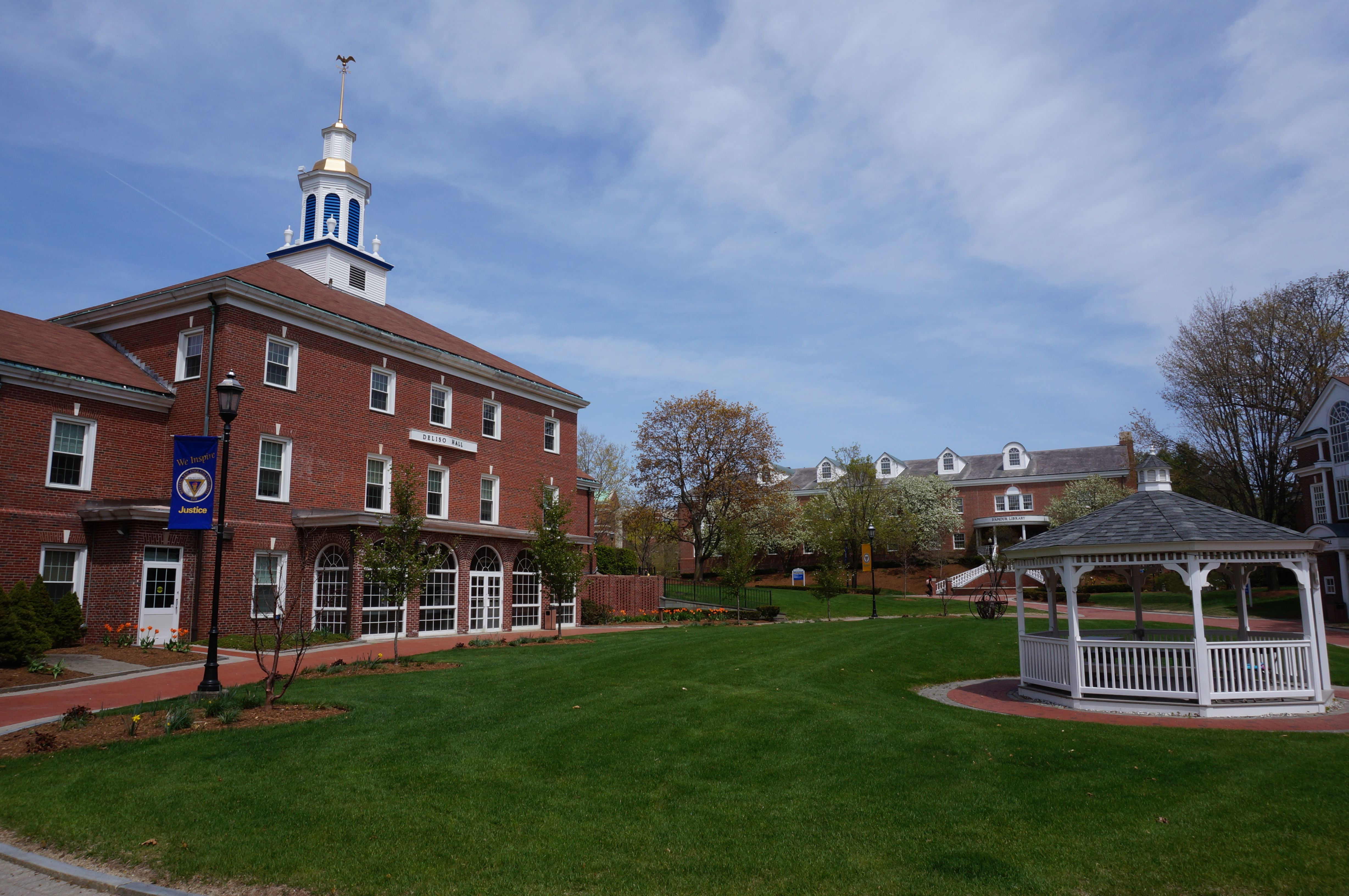 Deliso Hall And Gazebo In Center Of Campus New England University Western New England Campus