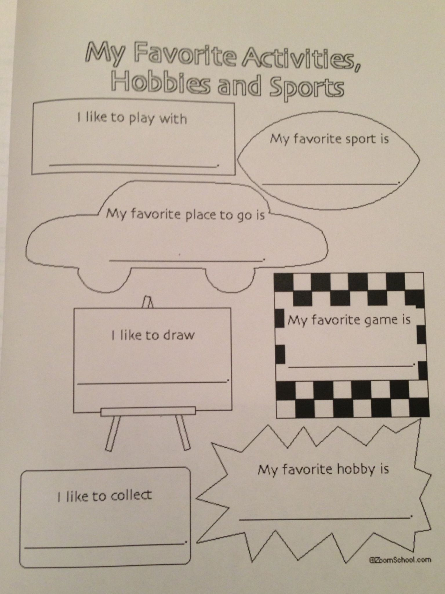 Each Girl Scout Brownie Filled Out A Worksheet About Their