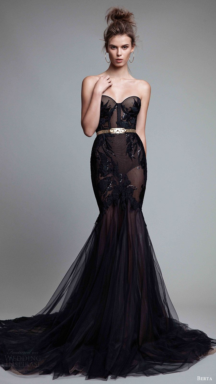 Is a black dress ok to wear to a wedding  Berta Fall  ReadytoWear Collection  Black evening dresses