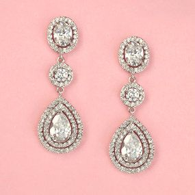 Liberty Dangle Earrings - Kate Ketzal - Beautiful Wedding Jewelry & Adornments