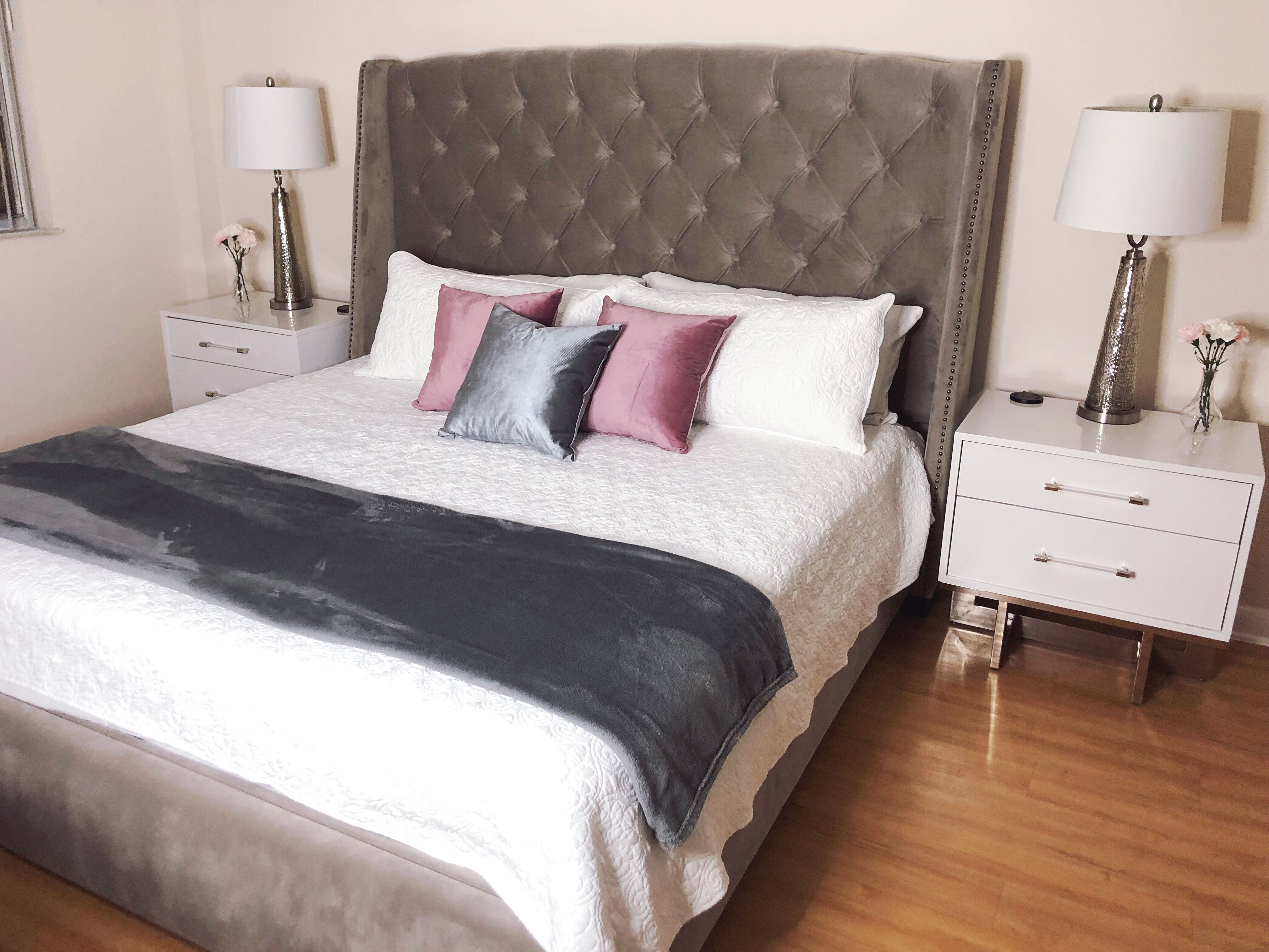 Modern Glam bedroom | Glam bedroom, Decor, Home decor