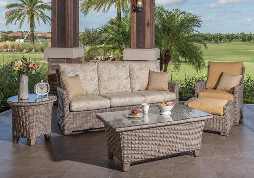 Oxford Wicker Outdoor Furniture By Windward Design Group With Coordinating  Outdoor Tables.