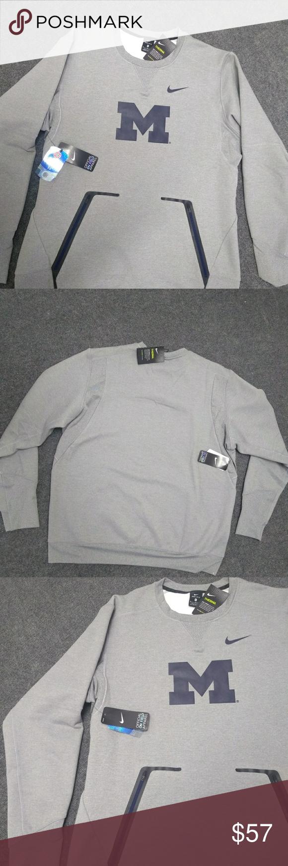 Nike Michigan Crew Sweatshirt Crew Sweatshirts Sweatshirts Sweatshirt Shirt [ 1740 x 580 Pixel ]