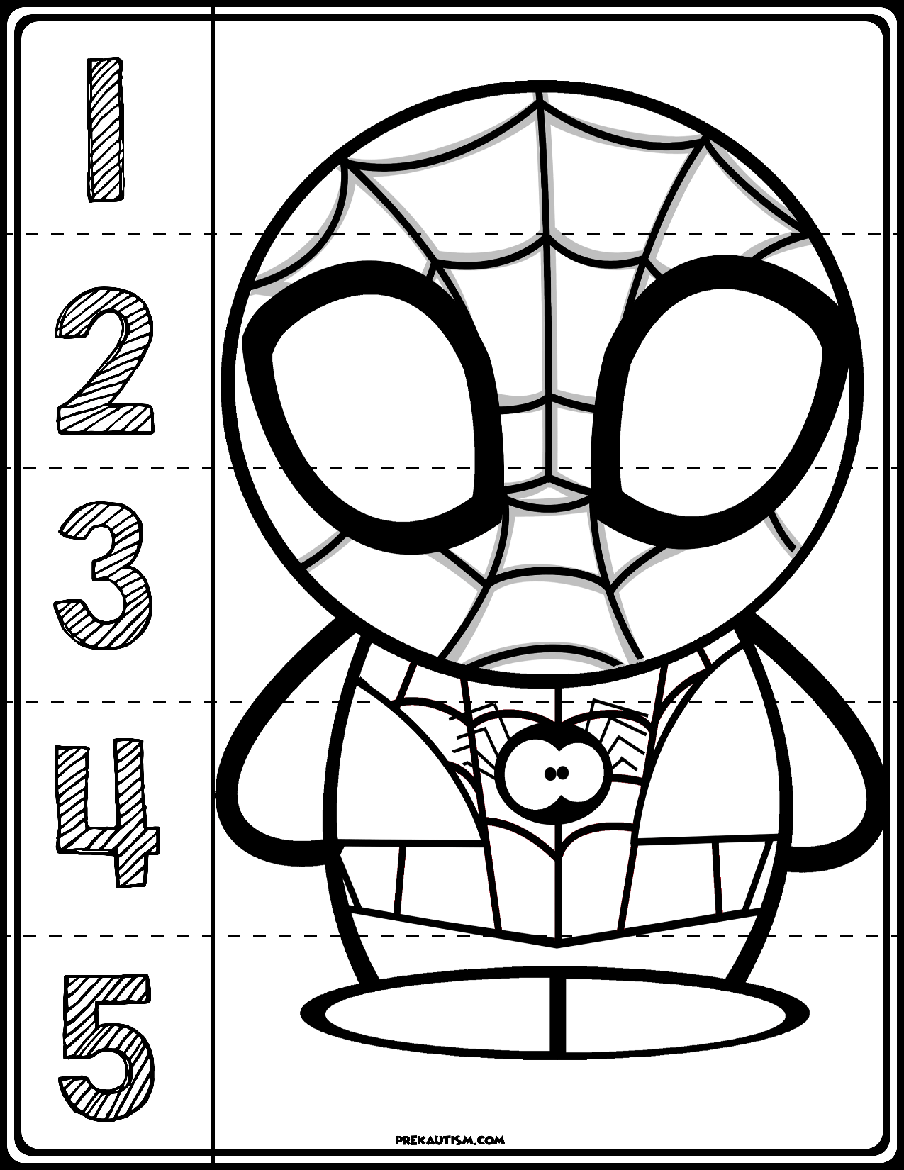 Spider Man 1 5 Counting Puzzle In