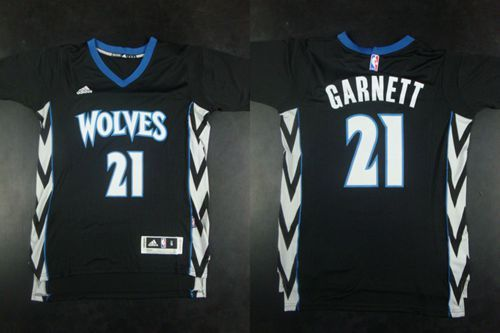 "$23.88 at ""MaryJersey""(maryjerseyelway@gmail.com) Timberwolves 21 Kevin Garnett Black Alternate Stitched NBA Jersey"