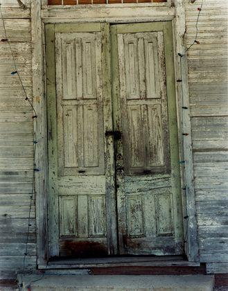 William Christenberry Green Door Newbern Alabama 1997 William Christenberry Green Door Newbern